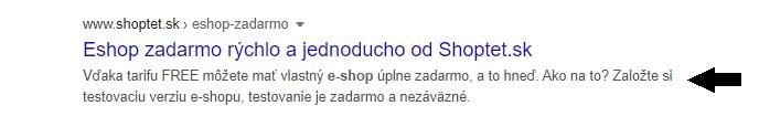 e-shop zadarmo od Shoptet.sk
